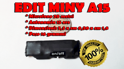 edit miny a 15 registratore audio per vestiti